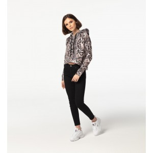 Snake Skin CROPPED Hoodie without pocket